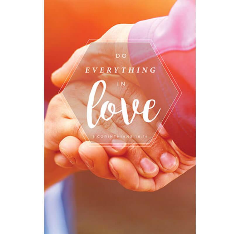 Church bulletin love